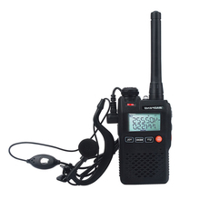 Pocket radio walkie talkie baofeng| two-way mini radio with double display of 2w and 99 channels| with free hands