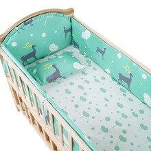 5 шт. Детский комплект для кровати, Детский комплект для малышей, Комплект постельного белья для кроватки, детская подушка, детская кровать, бамперы, матрас для детской кроватки, 100*56 см