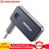 Mpow BH051 Bluetooth 5,0 Empfänger 3D Surround Stereo 10H Spielen Zeit Mit Schnell Lade & Stimme Assistent Für Auto/Home Audio