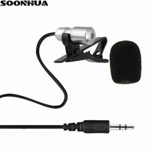 SOONHUA Microphone Clip-On Lapel Lavalier Mic Mini Microphones With Adapter Cable For IPhone Smart Phone Recording PC 50Hz-16KHz cltgxdd 16models speaker microphones inner mic repair parts for iphone 6 for samsung 9300 for sony for nokia 7610 for pc phone