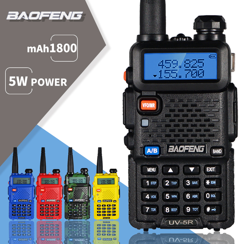 Baofeng UV-5R Walkie Talkie UV 5R Portable CB Ham Radio 5W Dual Band Transceiver VHF UHF Two Way Radio 10KM Hunting Radio UV5R