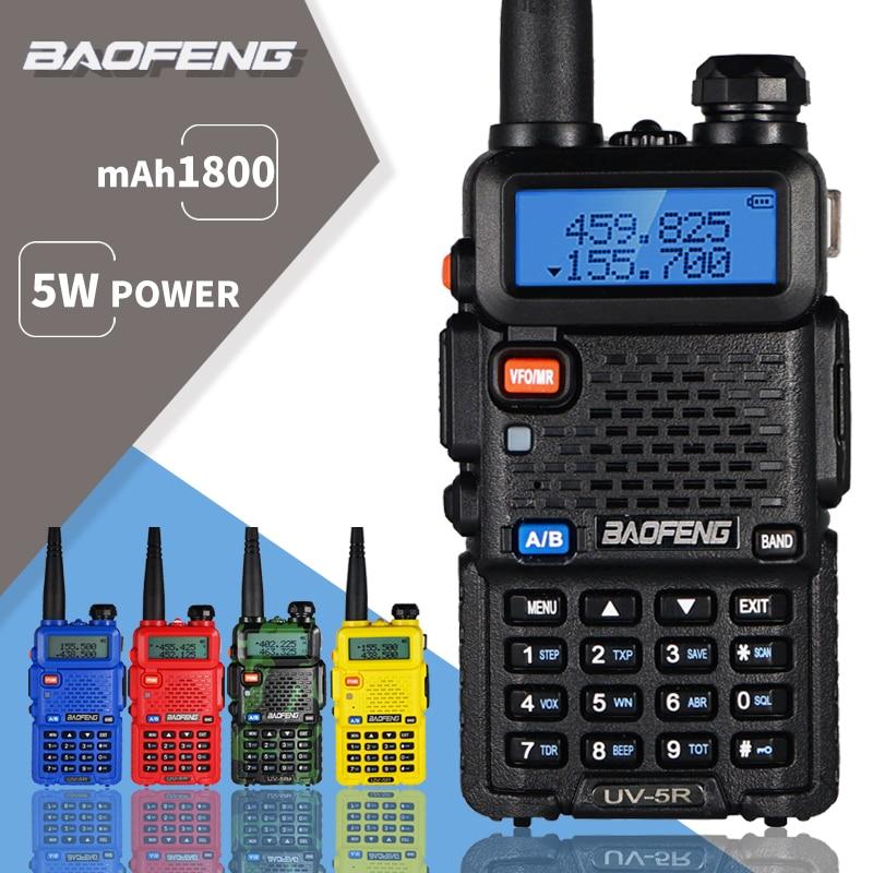 Baofeng UV-5R Walkie Talkie UV 5R Portable CB Ham Radio 5W Dual Band Transceiver VHF UHF Two Way Radio 10KM Hunting Radio UV5R