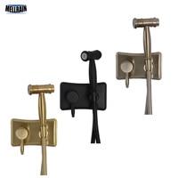 Hot & Cold Bidet Sprayer Kit. Mat Black Bathroom Bidet Shower Faucet Wall Mounted Luxury Gold & Brushed Nickel Woman Washer