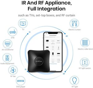 Image 4 - Broadlink RM4 Pro Remote Controller Smart Home Automation WiFi+IR+RF Switch Work With Alexa Google Home Sensor Accessory HTS2