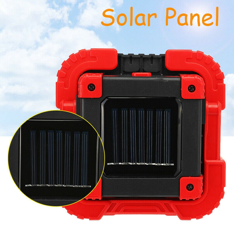 100W 2000LM USB Solar LED COB Work Light Rechargeable for Emergency Flood Lamp A