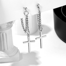 Earring Vintage Jewelry Unusual Trend Stainless-Steel Metal Cross-Statement Female Punk Fashion