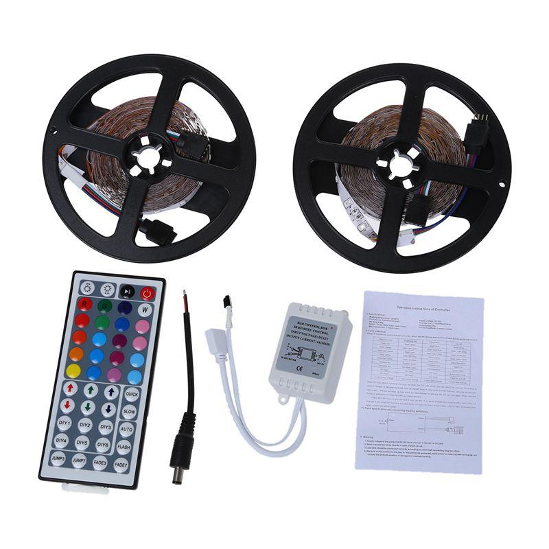 10m 2x5M 3528 SMD 600 LED String Strip Light RGB + Remote Control
