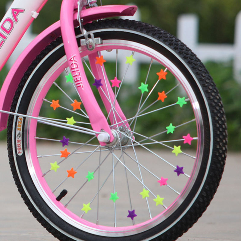 36PCS Bicycle Wheel Spoke Plastic Beads Multi Color Children Clips Decoration Bike Colorful Baby Kid Gifts Cycling Accessories