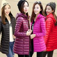 Coreano di Modo 2019 del Cappotto Del Cotone di Grandi Dimensioni Lungo Tratto di Giacca di Cotone di Inverno delle Donne di Sezione Sottile di Cotone