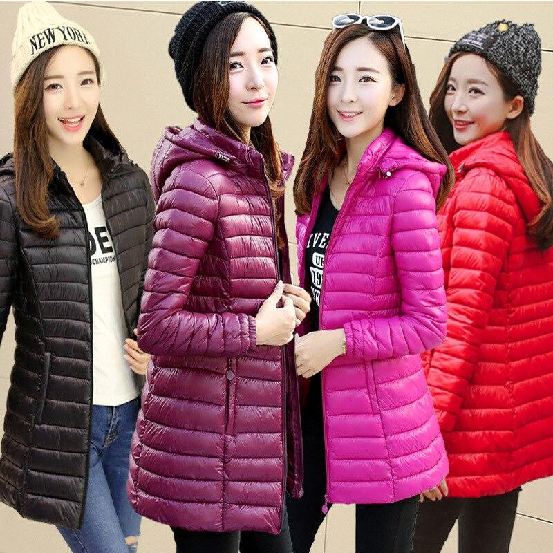 Moda coreana 2019 algodón abrigo de gran tamaño sección larga de algodón chaqueta de invierno de las mujeres sección delgada de algodón