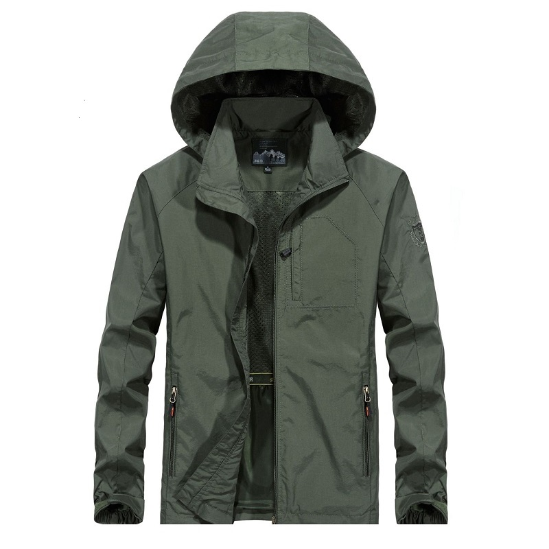 6XL Men's Waterproof Military Jacket Autumn Men Casual Windbreaker Jackets Mens Breathable Hooded Outdoor Coats Clothes ,GA363