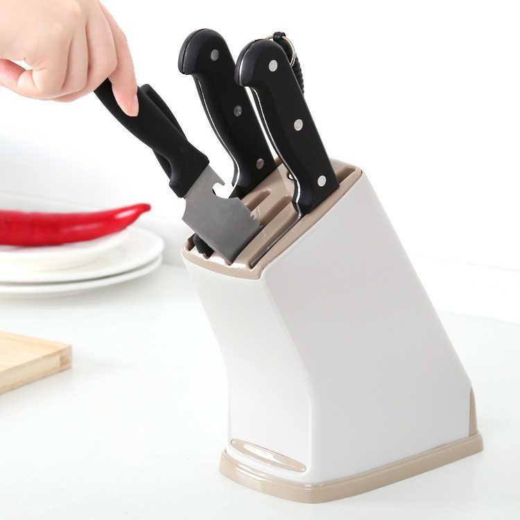 FASOTY キッチンプラスチックナイフナイフナイフブロック工具収納ホルダー用スタンドドレンキッチンガジェットキッチンツールのユーティリティ