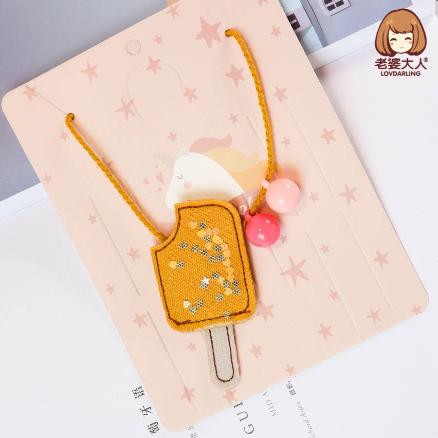His Wife Handmade Ice Cream Acrylic Hanging Beads Gauze Japanese Korean Not Allergy CHILDREN'S Necklace Xiang Shi Pin