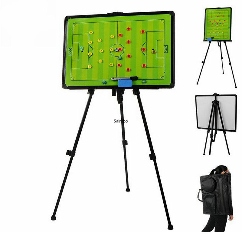 60x45cm Large Size Floor Type Football Teaching Board Bracket Type Football Tactical Board With Backpack Magnetic Erasable