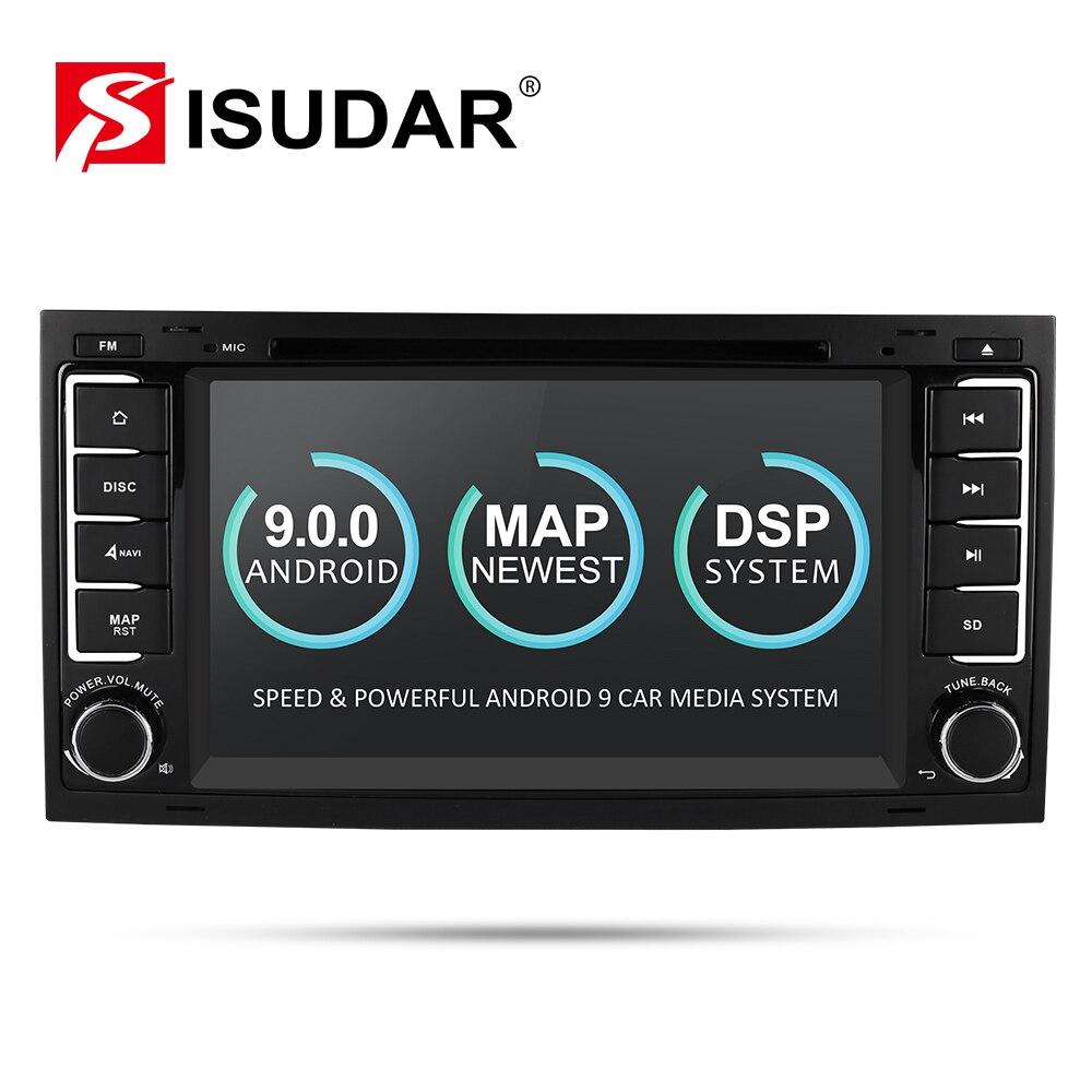 Lecteur multimédia de voiture Isudar Android 9 GPS 7 pouces 2 Din Autoradio pour VW/Volkswagen/Touareg Canbus Wifi FM Radio USB DVR