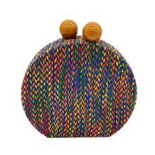 Vintage  Purse Shoulder Bag Multicolored Woven Evening Bags Bohemian Clutch Wedding Handbag Party for Women Girls недорого