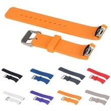 Pulseira de relógio de silicone para samsung galaxy gear s2 r720 r730 pulseira de banda esporte relógio de substituição 14 cores para a escolha