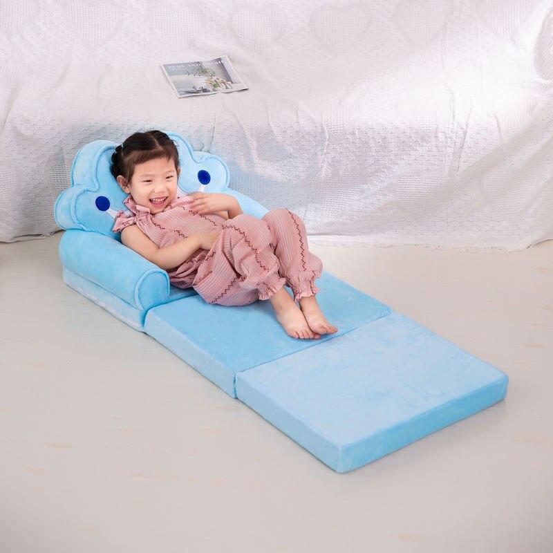 Детский складной маленький диван-кровать для сна мультяшный милый ленивый лежачий стул Съемный и моющийся детский диван детское кресло 3
