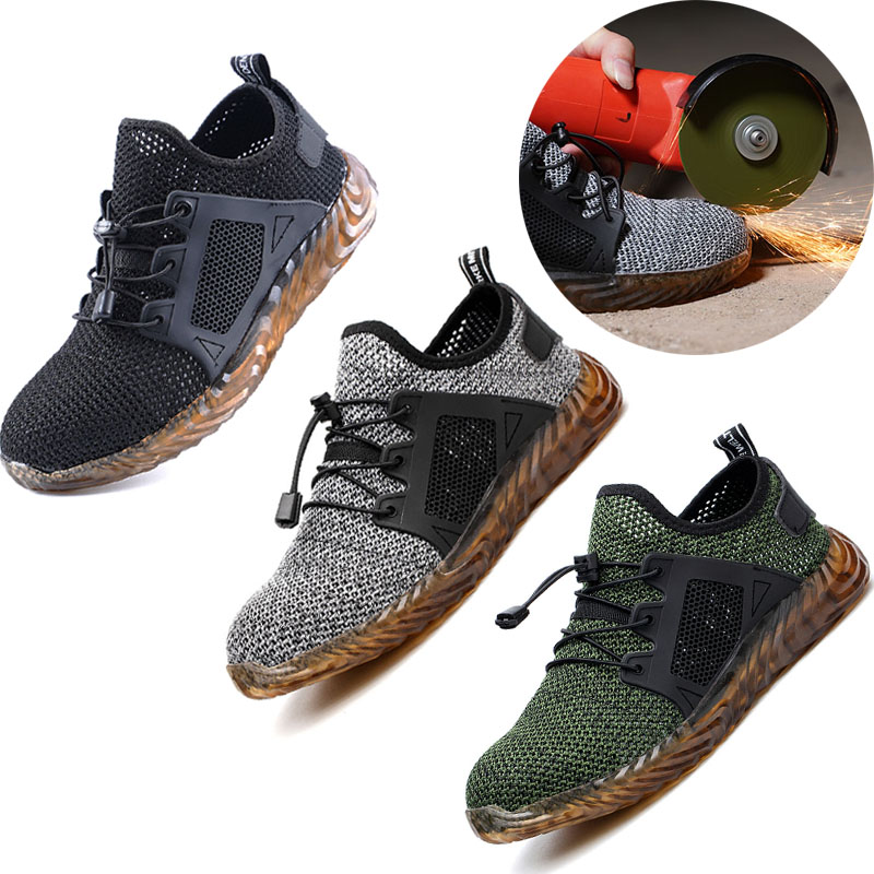 Men And Women Steel Toe Air Safety Combat Boots Indestructible Ryder Shoes Light Work Sneakers Breathable Shoes