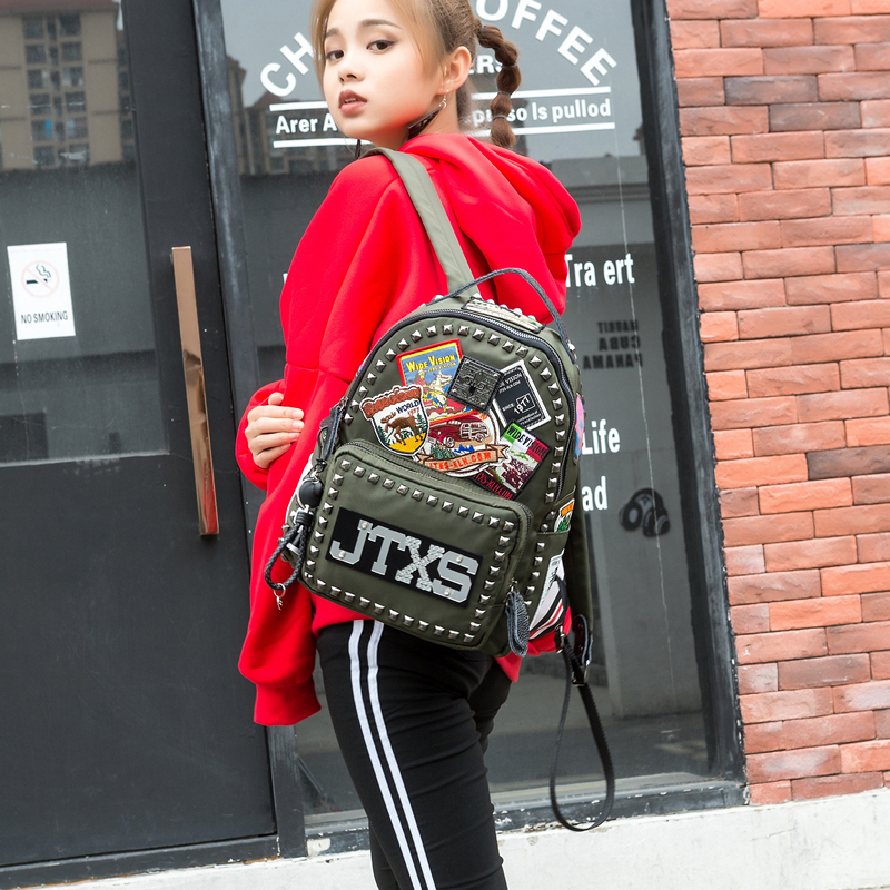 SHEE fashion 2020 Embroidered backpack women Travel backpack travel bag anti-theft Oxford cloth backpacks super quality mochilas