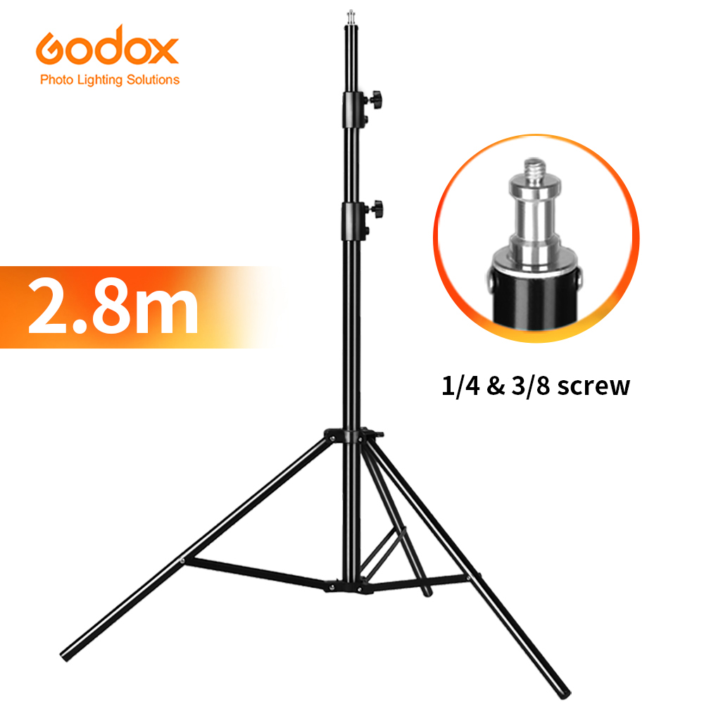 "Godox 280cm 2.8m Heavy Duty Video Studio Light Tripod Support Stand With 1/4"" Screw For Softbox Lamp Holder LED Light Flash"