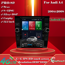 For 2004-2008 Audi A4 intelligent multimedia video player Audi A4 radio GPS Android 10.0 + 128G 12.1 inch Tesla style navigation