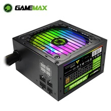 GameMAX PSU RGB PC Power Supply 600W Semi Modular 80+ Bronze, RGB Fan ATX Half Modular Power Supply GAMEMAX VP-600-M-RGB