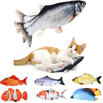 Cat USB Charger Toy Fish Interactive Electric floppy Fish Cat toy Realistic Pet Cats Chew Bite Toys Pet Supplies Cats dog toy 1