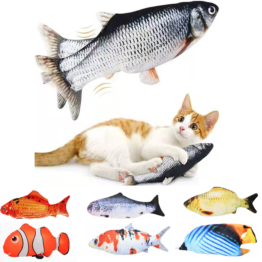 Cat USB Charger Toy Fish Interactive Electric floppy Fish Cat toy Realistic Pet Cats Chew Bite Toys Pet Supplies Cats dog toy