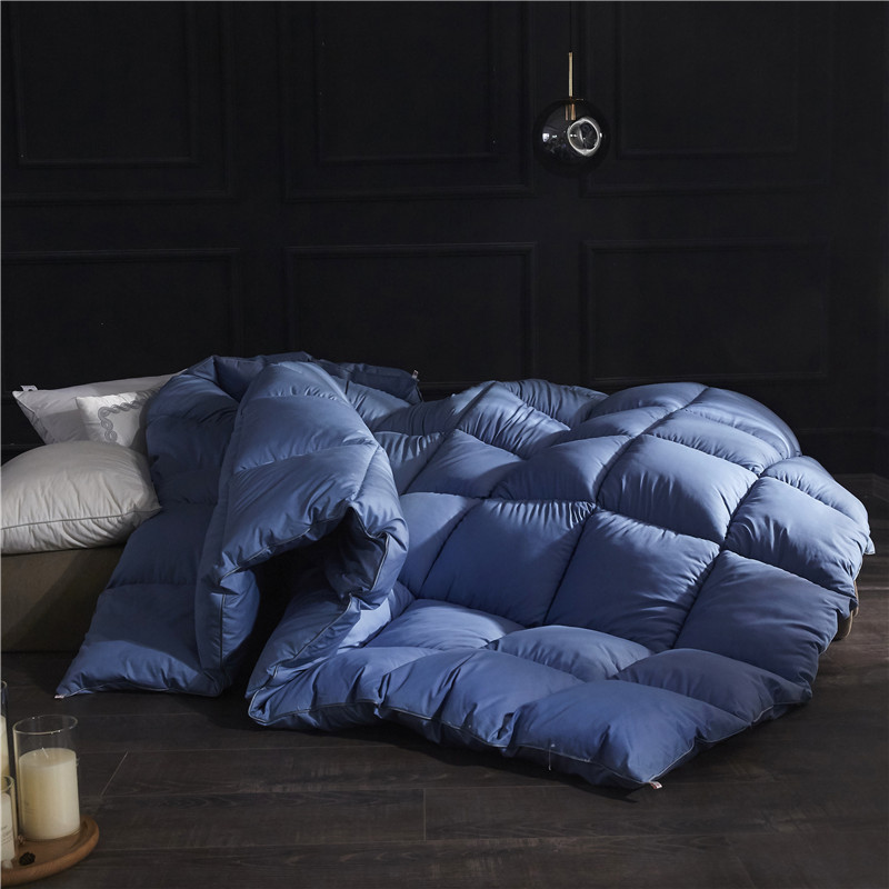 SF Pure Color Winter Quilt Duvet King Queen Twin Size Very Warm Winter Blanket Comforter Filler 1.5~3kg Weigte Down Quilt Duvet