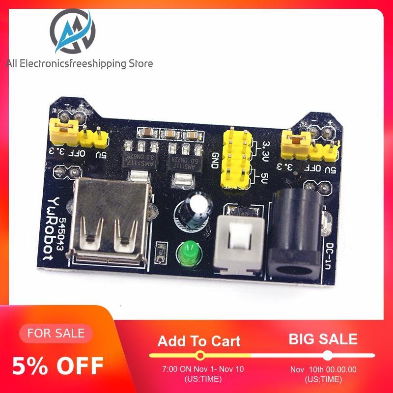 MB102 Breadboard Power Supply Module /MB102 White Breadboard Dedicated Power Module 2-way 3.3V 5V MB-102 Solderless Bread Board