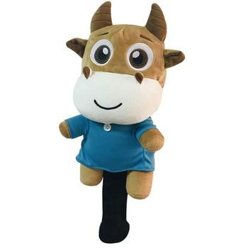 цена на Golf  Driver Wood Head Cover 460cc Novelty Animal Cow Shape Headcover