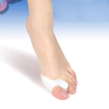 NEW 2pcs Silicone Gel Foot Toe Orthotast Thumb Valgus Protector Bunion Adjuster Pain Relief Straighten Bent Toes фото