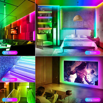 Addressable WS2815 IC LED Strip Light 5050 RGB Full Color Dream Color Strip Lights 5M Kit Remote Control for Home Party lighting