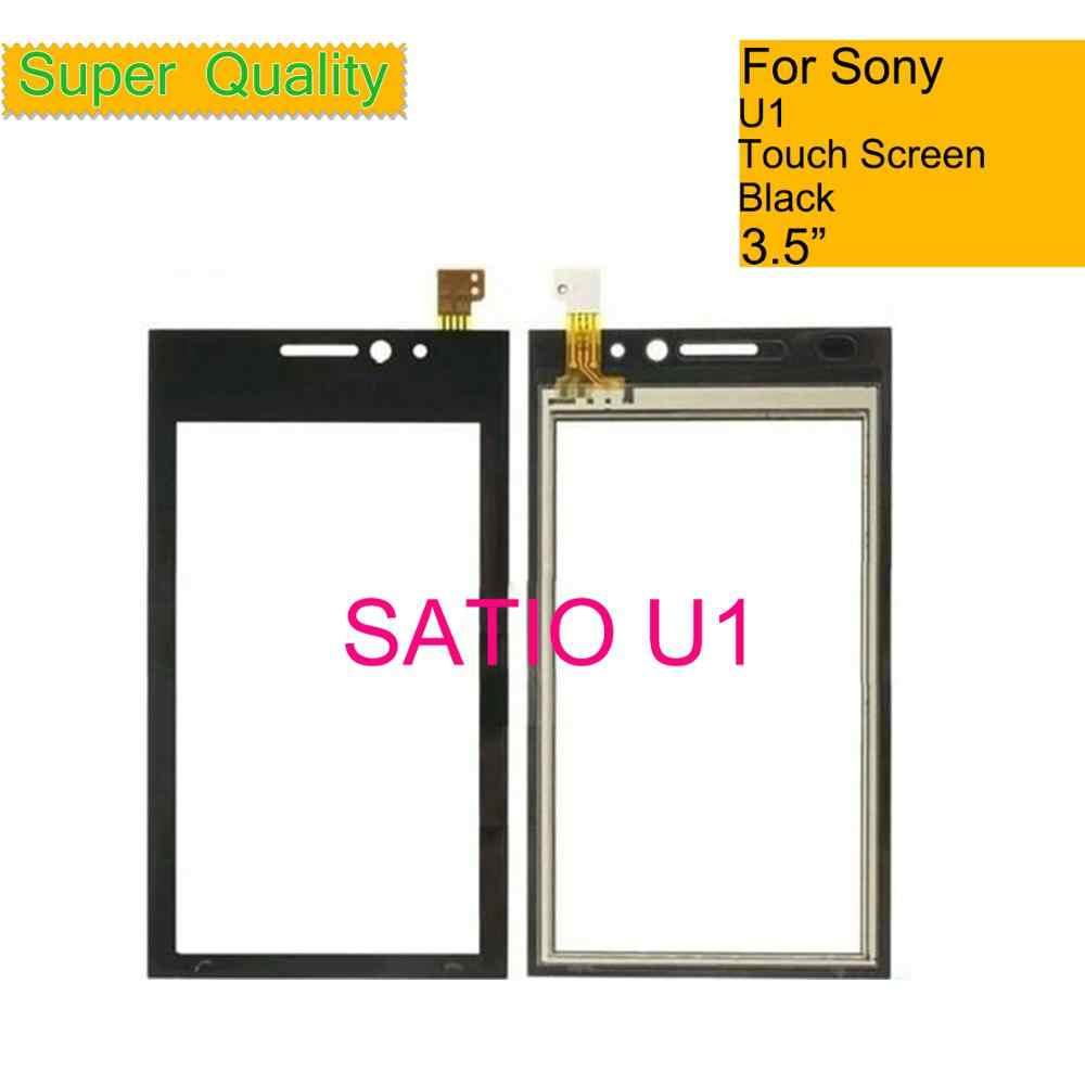 جبهة جديدة لوحة لسوني إريكسون SATIO u1 U1i اللمس استشعار شاشة محول الأرقام الزجاج الخارجي إصلاح الأسود