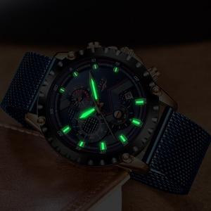 Image 4 - LIGE New Mens Watches Male Fashion Top Brand Luxury Stainless Steel Blue Quartz Watch Men Casual Sport Waterproof Watch Relogio