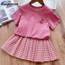 Summer Kids Outfits Shirt Clothing-Set Little Girls Children Fashion Gooporson Korean