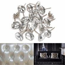 Hoomall 20 штук в упаковке, мягкая сумка с кристаллами и пряжкой для дивана, алмазная пряжка, алмазные пуговицы, декоративная пряжка для фона