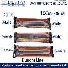 10cm 20cm 30cm 40pin arco-íris cabo dupont linha macho fêmea cabeça rédea jumper fio de conexão linha de cabo pwb breadboard kit diy