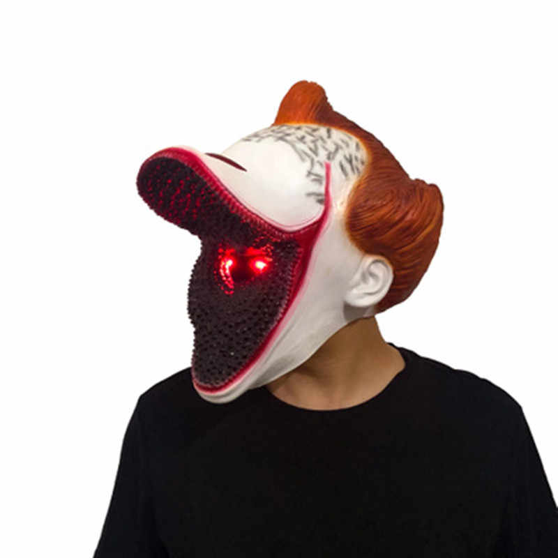 Film È Capitolo Due 2 LED Joker Pennywise Maschera Stephen King Horror Cosplay Lattice Maschere led Casco aperto bocca Pagliaccio halloween