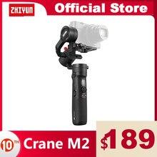 ZHIYUN Crane M2 oficial guindaste cardan para smartphones telefone câmeras compactas ação mirrorless nova chegada 500g handheld estabilizador