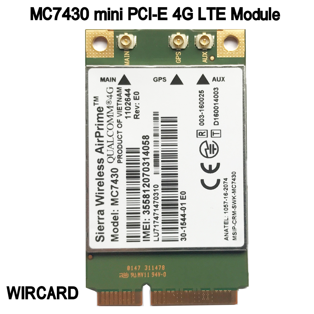 MC7430 LTE 4G Module FDD-LTE TDD-LTE CAT6 HSPA+ GNSS WWAN Card USB 3.0 MBIM Interface 4G Card
