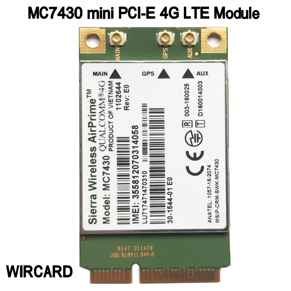MC7430 LTE 4G Module FDD-LTE TDD-LTE CAT6 HSPA+ GNSS WWAN Card USB 3.0 MBIM Interface 4G Card