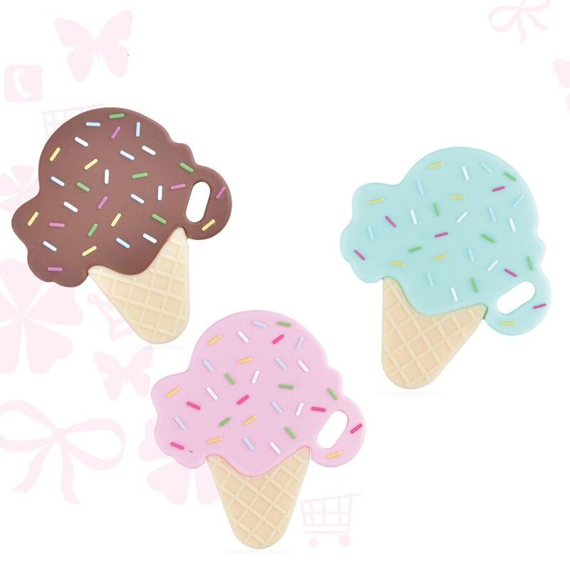 1 шт. в форме мороженого, силиконовый жевательный Прорезыватель для зубов, Прорезыватель для зубов, игрушки BPA, подарок, силикон для