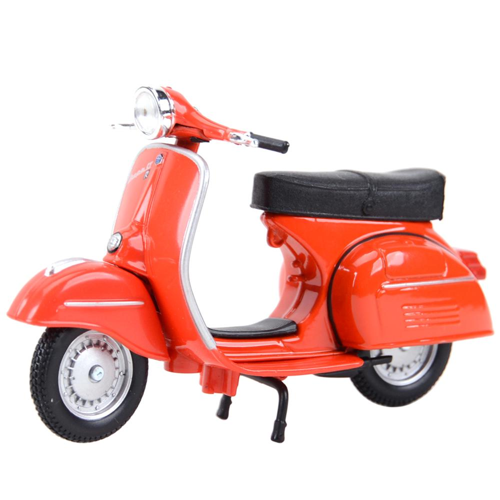 Maisto 1:18 Piaggio Vespa Static Die Cast Vehicles Collectible Hobbies Motorcycle Model Toys Roman Holiday Collecting Gifts