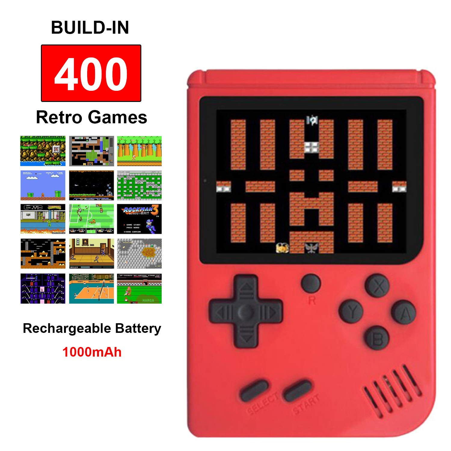 Good Gifts for Kids Boys Girls Retro Game Console with 400 Classic Games 3.0 inch Screen Portable Handheld Game Console Handheld Game Console