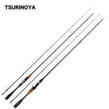 TSURINOYA AGILE 1.95M 2.01M 2.18M Spinning Casting Fishing Rodคาร์บอนUltralight 2ส่วนLure Rod FUJIอุปกรณ์เสริมPole
