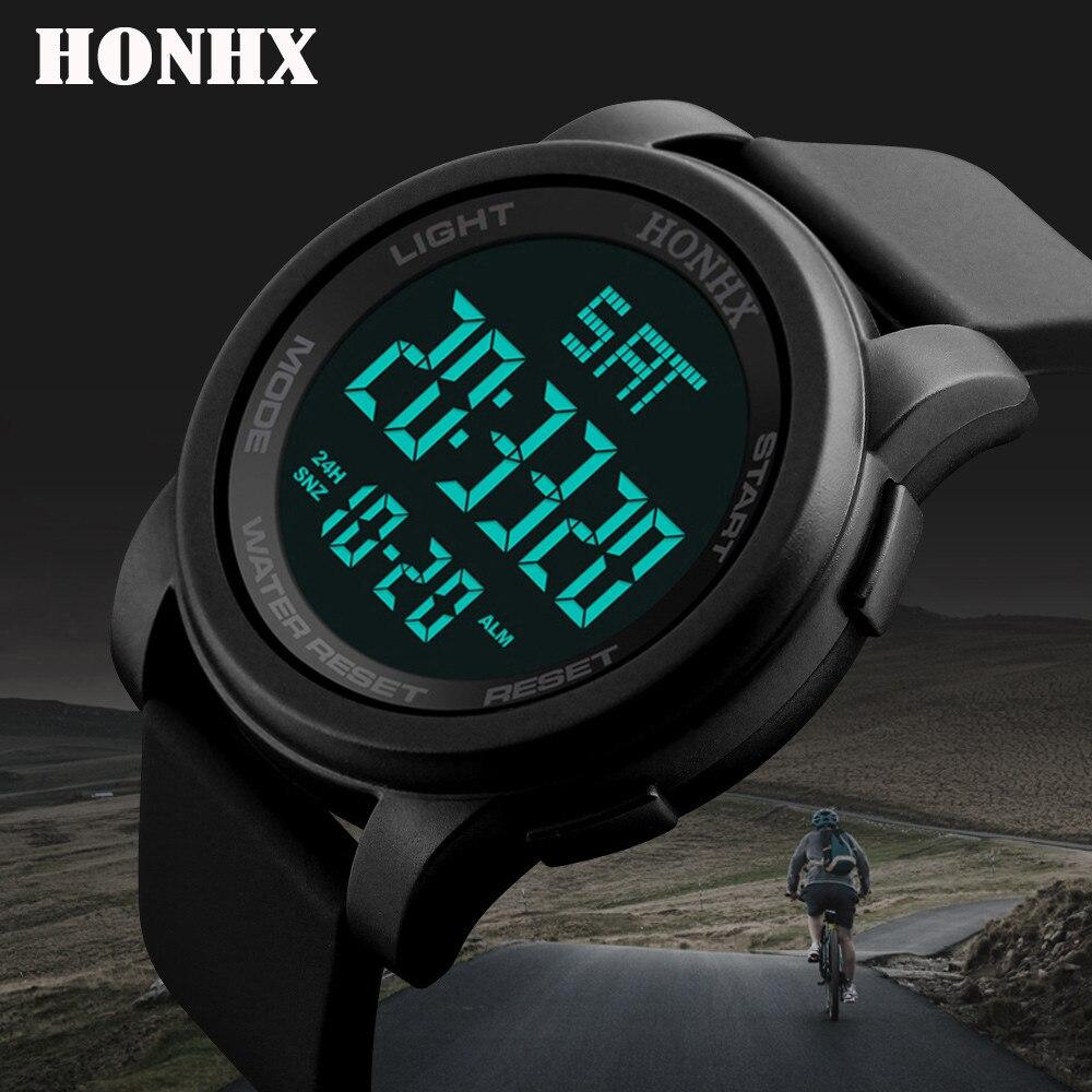 Relógios esportivos femininos led dwaterproof digital homem de água quartzo relógio de luxo sensor de luz digital relógio masculino presente