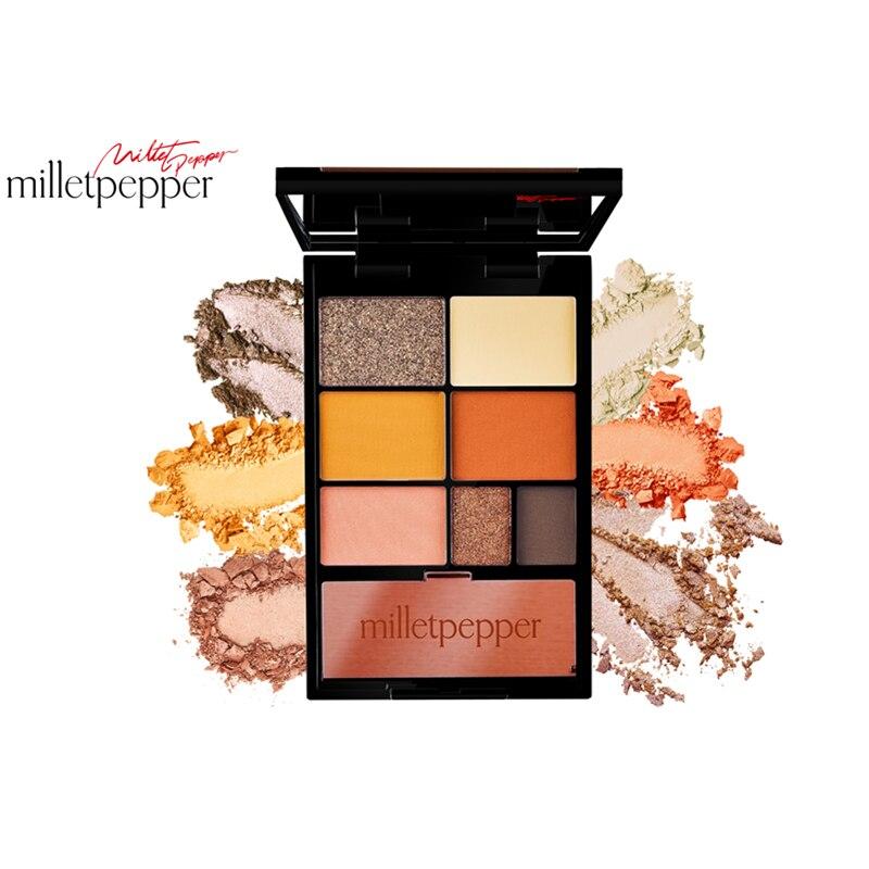 Металлический 7 видов цветов Палитра теней для век milletpepper|Тени для век| | - AliExpress