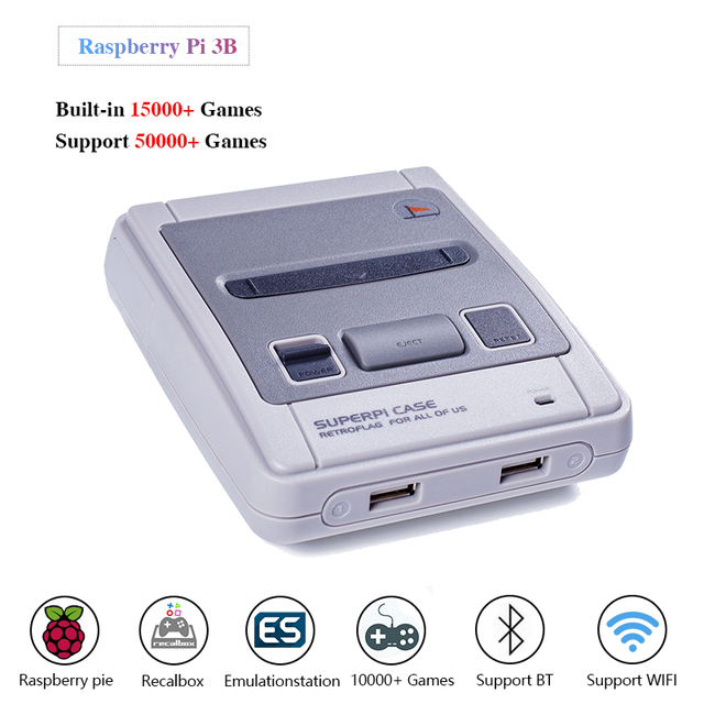 Retroflag SUPERPi CASE J With Raspberry Pi 3B Video Game Console HDMI Out Retro Gaming Console 15000+ Games Best Chrismas Gift